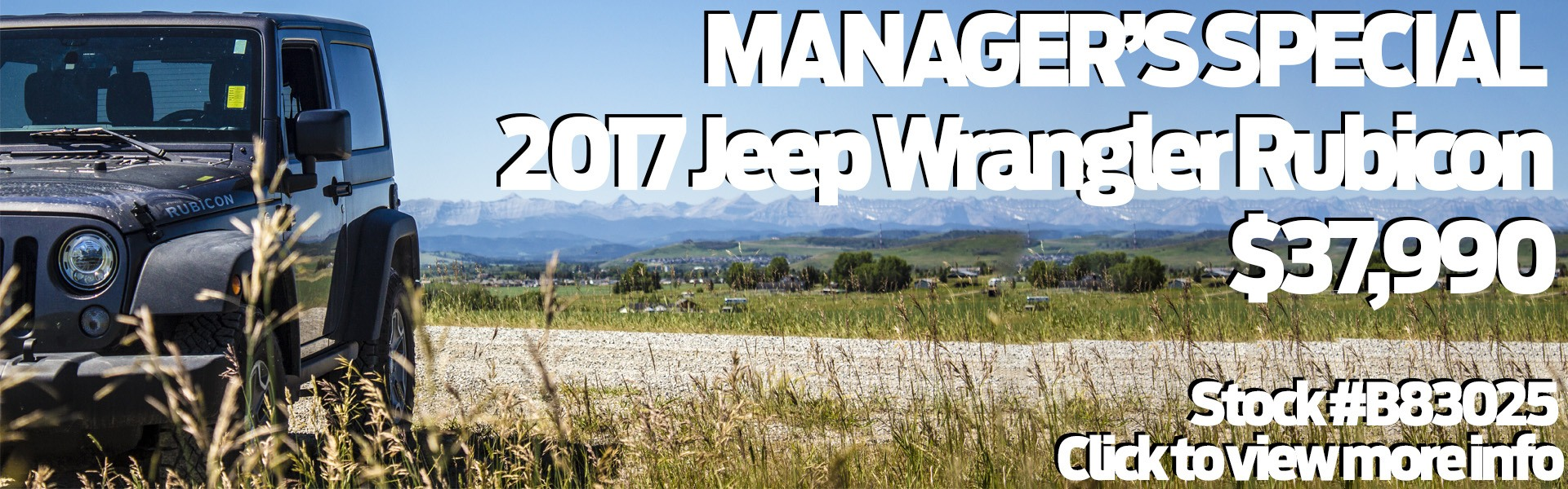 Jeep Wrangler Rubicon 2017 Special Offer