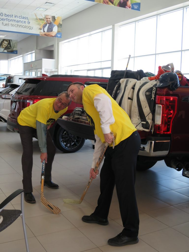 Rick Cherrington (General Manager) and Rory Wood (General Sales Manager) face-off
