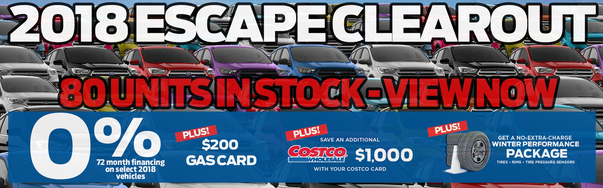 2018 Escape Clearout at Okotoks Ford - Great Deals on all In-Stock 2018 Model Year Escapes