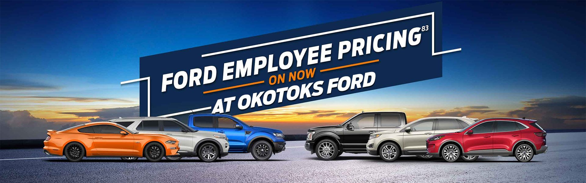 Employee Pricing now on at Okotoks Ford