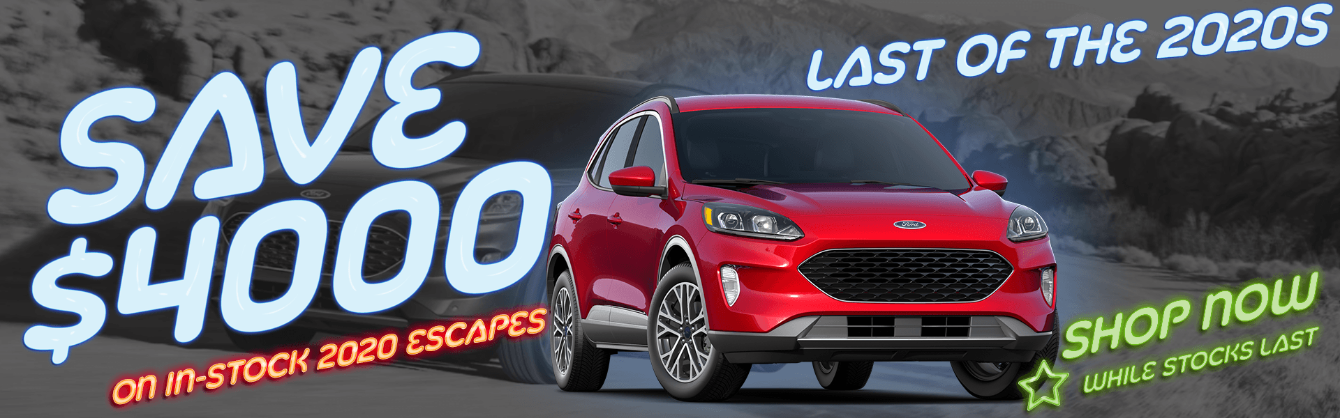 $4000 off 2020 Escape