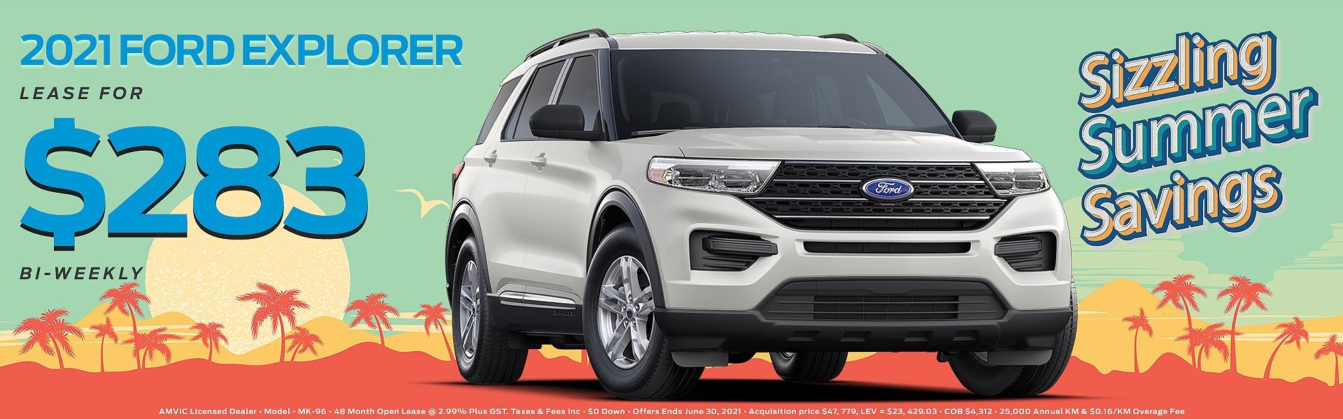 2021 White Ford Explorer