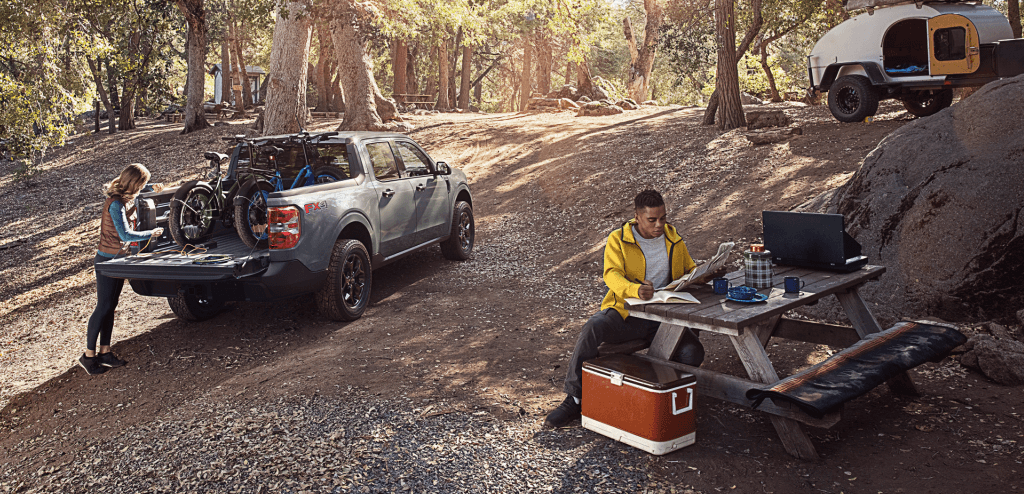 Ford Maverick on camping